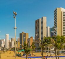 Beach and Buildings of Fortaleza Brazil Sticker