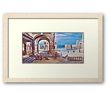 High Quality Restored Hendrick van Steenwyck the Younger - The Courtyard of a Renaissance Palace by LarcenIII Framed Print