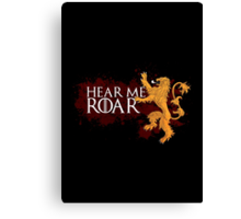 Hear Me Roar - House Lannister Canvas Print