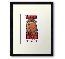 Russia says vote for Soviet Bear Framed Print