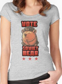 Russia says vote for Soviet Bear Women's Fitted Scoop T-Shirt