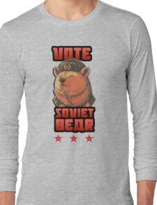 Russia says vote for Soviet Bear Long Sleeve T-Shirt
