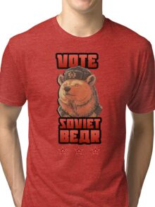 Russia says vote for Soviet Bear Tri-blend T-Shirt