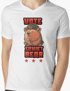 Russia says vote for Soviet Bear Mens V-Neck T-Shirt