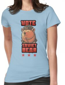 Russia says vote for Soviet Bear Womens Fitted T-Shirt