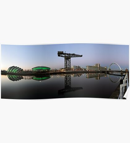 Clyde Waterfront After Sunset Poster