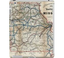 0137 Railroad Maps Commissioners official railway map of Missouri Completed to January 1st 1888 Copyright 1887 by R T iPad Case/Skin