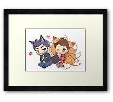 The Fox 'n the Wolf Framed Print