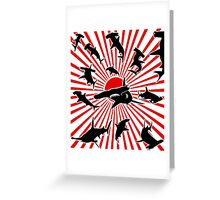 Sharks of the Rising Sun Greeting Card