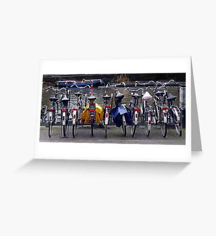 Bicycles, Amsterdam Greeting Card