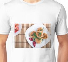 Top view on food made from natural ingredients Unisex T-Shirt