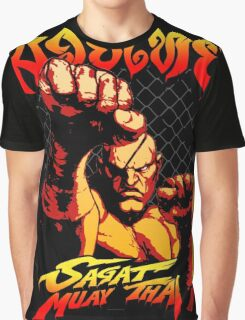 sagat muay thai street fighter heroes fighter thailand kick master Graphic T-Shirt