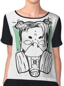 Breathe - Green Chiffon Top