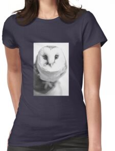 Barn Owl Womens Fitted T-Shirt