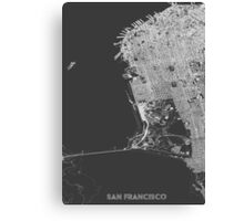 San Francisco in wireframe Canvas Print