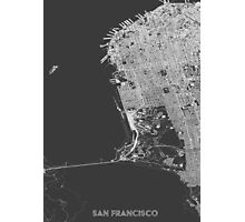 San Francisco in wireframe Photographic Print