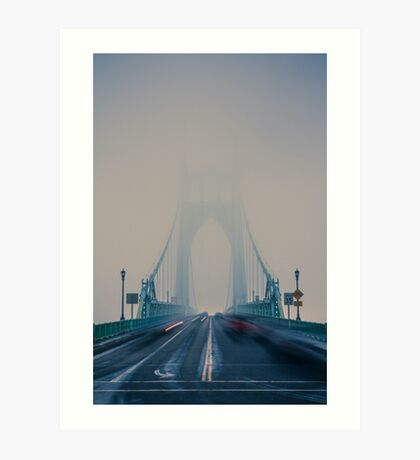 St. Johns Bridge Fog Art Print