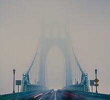 St. Johns Bridge Fog by Cameron Booth