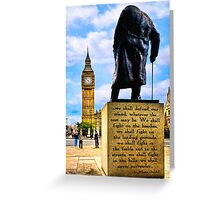 Never Surrender - Winston Churchill's Legacy Greeting Card
