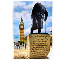 Never Surrender - Winston Churchill's Legacy Poster