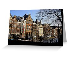Streetscape, Amsterdam Greeting Card