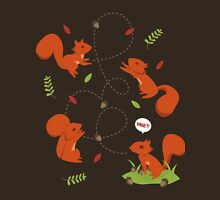 Feisty Squirrels Food Fight Womens Fitted T-Shirt