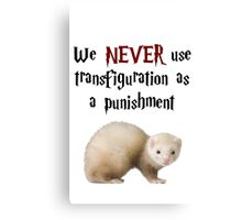 We NEVER Use Transfiguration As A Punishment Canvas Print