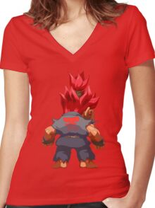 Puzzle Demon Women's Fitted V-Neck T-Shirt