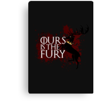 Ours Is The Fury - House Baratheon  Canvas Print