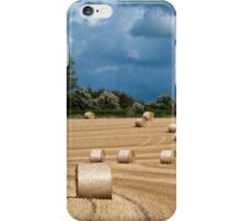Hay Bales & Storm Clouds iPhone Case/Skin