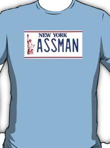 Cosmo Kramer Seinfeld Assman New York NY plate T-Shirt