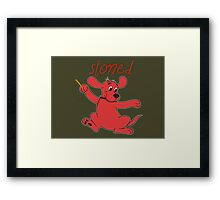 Stoned Clifford Framed Print