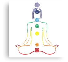 The Seven Chakras in Meditation Metal Print