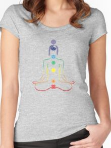 The Seven Chakras in Meditation Women's Fitted Scoop T-Shirt