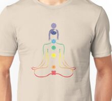 The Seven Chakras in Meditation Unisex T-Shirt