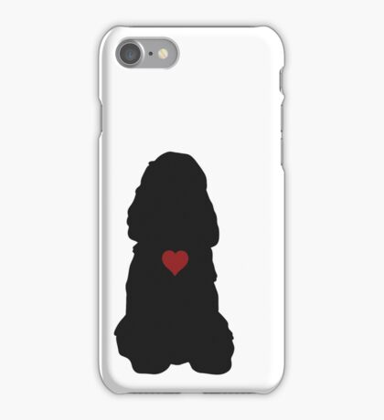 American Cocker Spaniel Silhouette iPhone Case/Skin