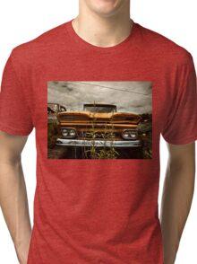 Abandoned 1960 GMC Carryall Tri-blend T-Shirt