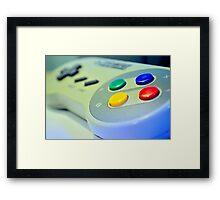 SNES Game Pad Framed Print