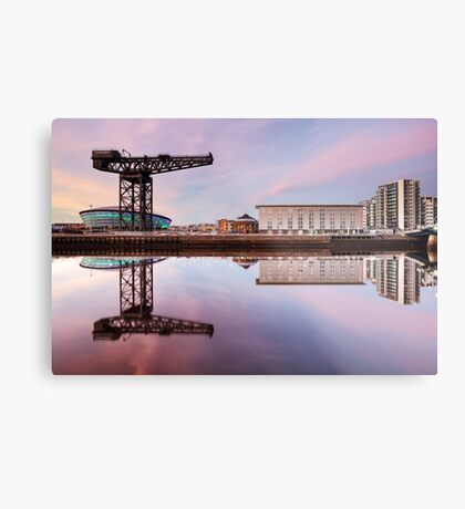 Clyde waterfront reflection at Sunset Metal Print