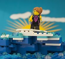 Surfing LEGO Minifigure by Peter Kappel