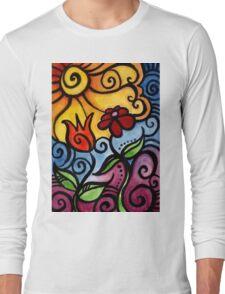 Colorful Summer Sun Flowers Long Sleeve T-Shirt