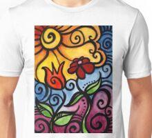 Colorful Summer Sun Flowers Unisex T-Shirt