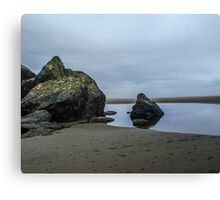 Rock water and sky Canvas Print