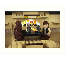 Old friends - Chewbacca and Han Solo Art Print