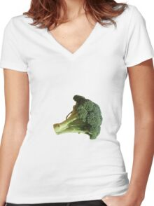 Broccoli Women's Fitted V-Neck T-Shirt