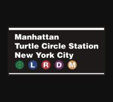 TMNT NYC Subway Sign One Piece - Short Sleeve