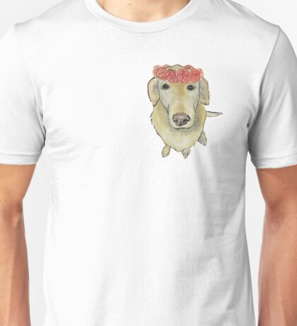 Flower Crown Pooch Unisex T-Shirt