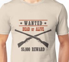Vintage Wanted Western Poster Unisex T-Shirt