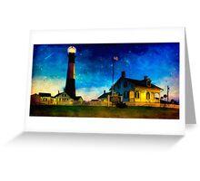 Tybee Lighthouse Fantasy - Night Falls on The Georgia Coast Greeting Card