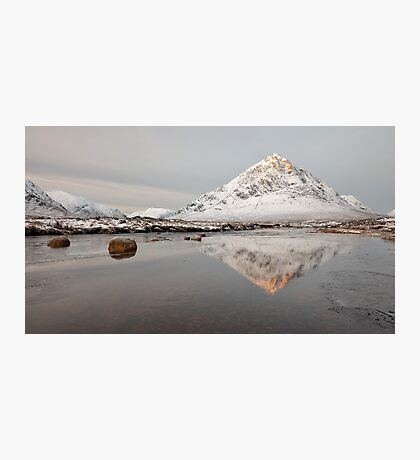 Mountain Reflection on the River Etive Photographic Print